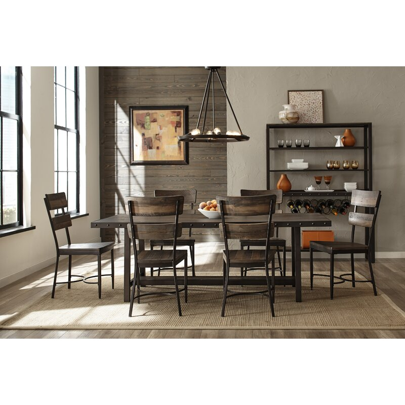 Cathie 7 Piece Wood Dining Set