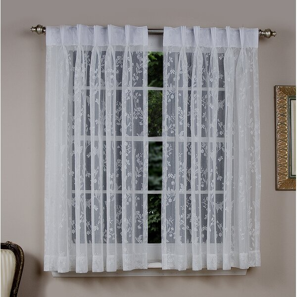 Hot Pop Butterfly Sheer Voile Net Curtains Ready Made Bedroom Living Dining Room