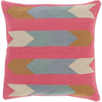 Turn on the Brights Lindel Cotton Throw Pillow Size: 20 H x 20 W x 1 D, Color: Neutral\Brown