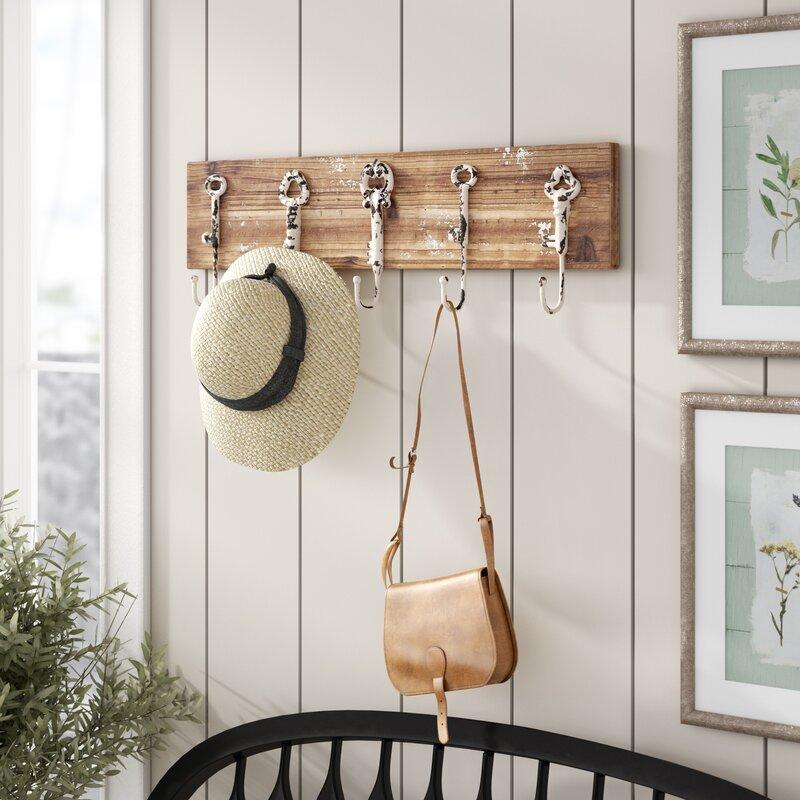 Laurel Foundry Modern Farmhouse Baye Wall Mounted Coat Rack