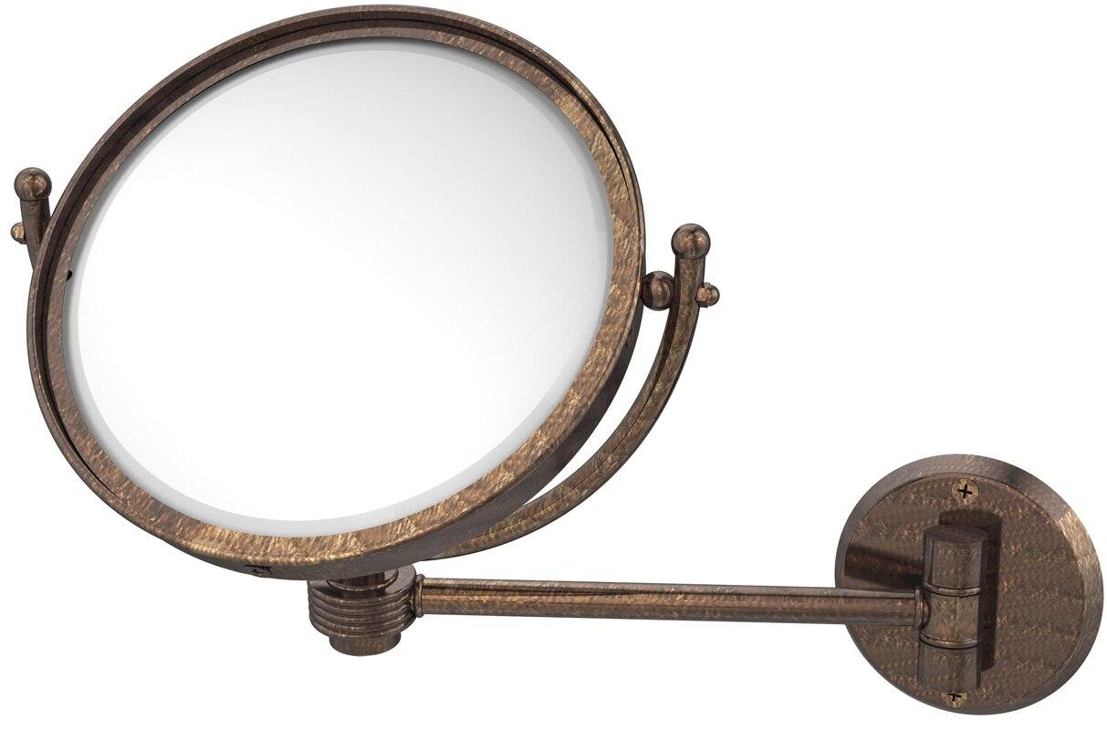 Allied Brass Wall Mounted Make-Up 5X Magnification Mirror with ...