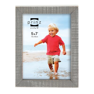 Prinz Sweet Water Distressed Solid Wood Picture Frame Size: 5 x 7, Color: Gray
