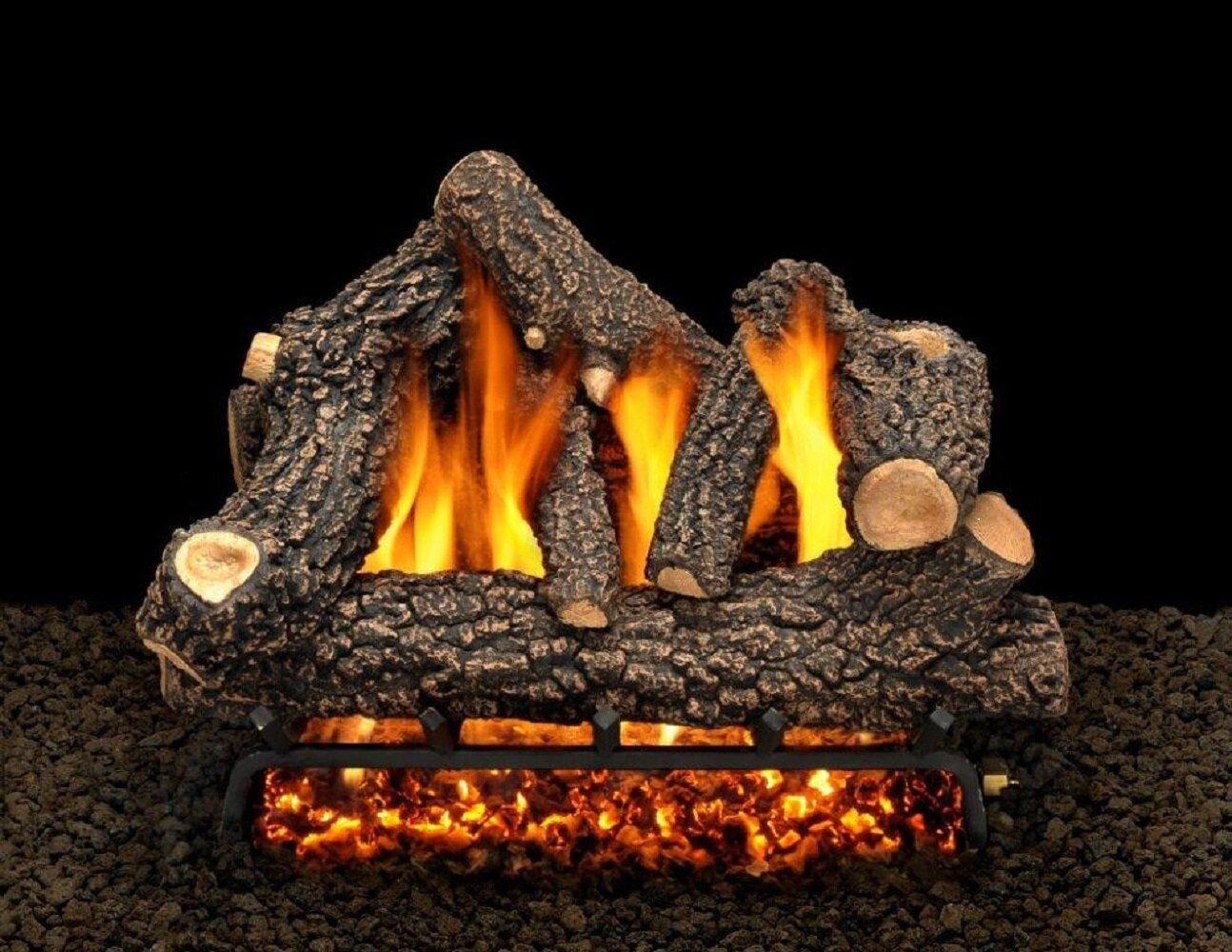 American Gas Log Cheyenne Glow Vented Propane Natural Gas