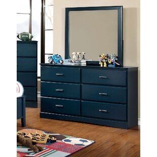 Krish 6 Drawer Double Dresser with Mirror by Zoomie Kids