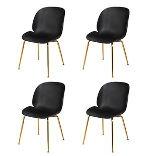 Ivy Bronx Margie Back Gilded Dining Chair (Set of 4)