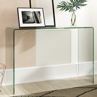 Bent Glass Console Table By Mercury Row