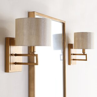 Best Price Cooperman 1-Light Armed Sconce (Set of 2) By Mercury Row