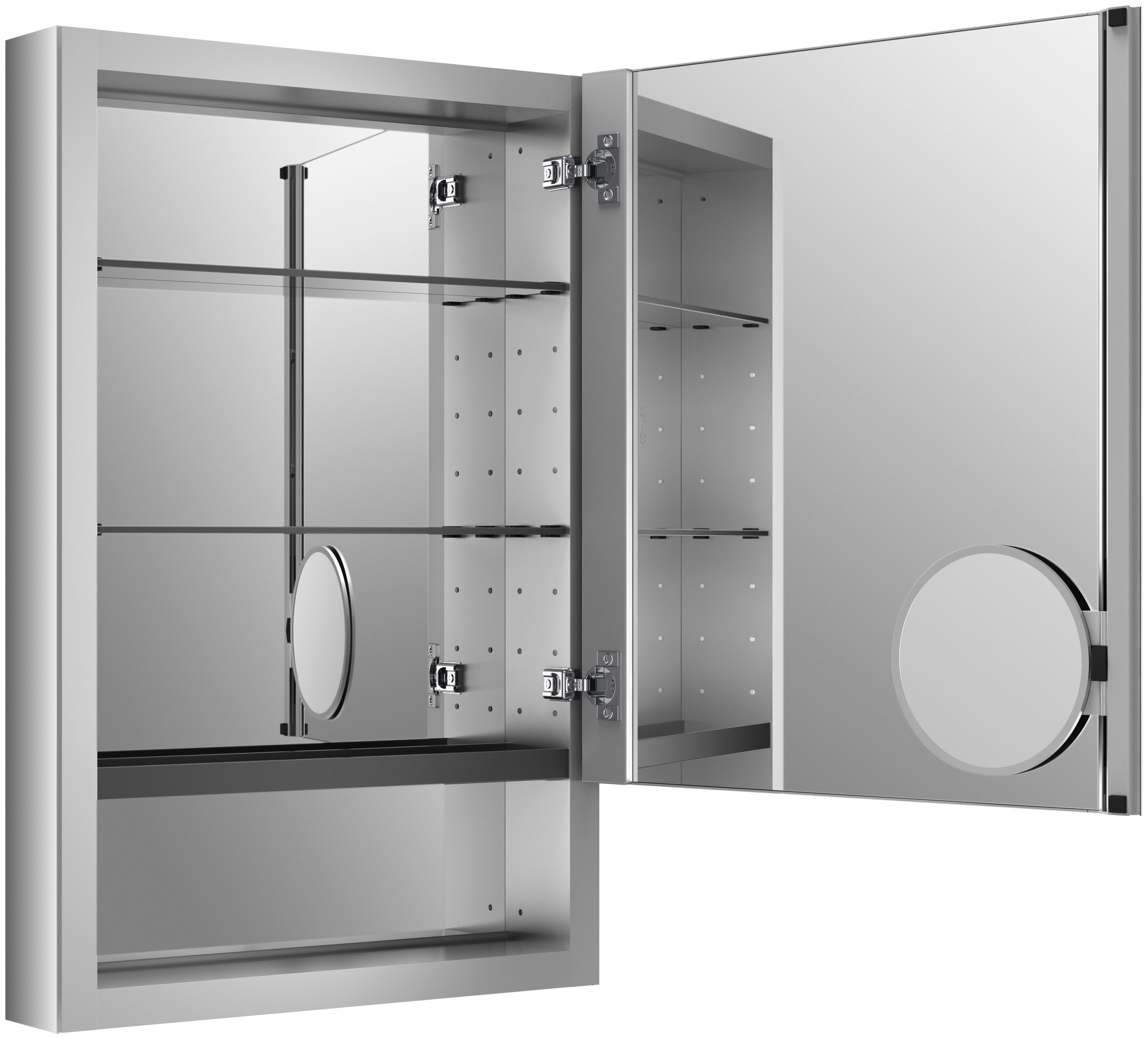 Kohler Verdera 20 X 30 Aluminum Medicine Cabinet With Adjustable