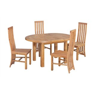 Arreola 5 Piece Extendable Solid Wood Dining Set