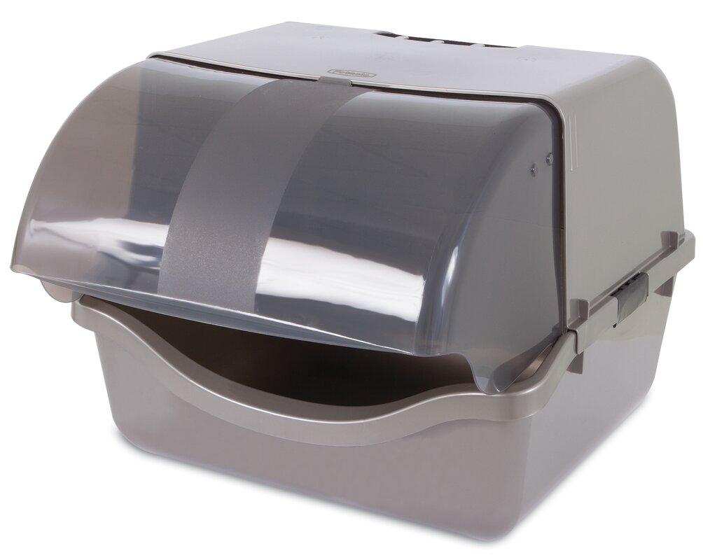 retracting litter pan