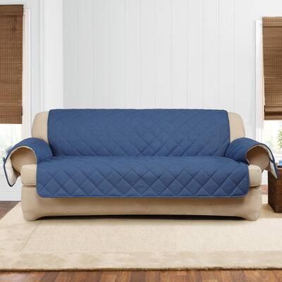Denim Sherpa T Cushion Sofa Slipcover
