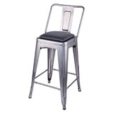 Anthonyville Middle Back Metal 24 Bar Stool by 17 Stories