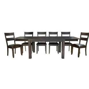 Alder 7 Piece Extendable Solid Wood Dining Set
