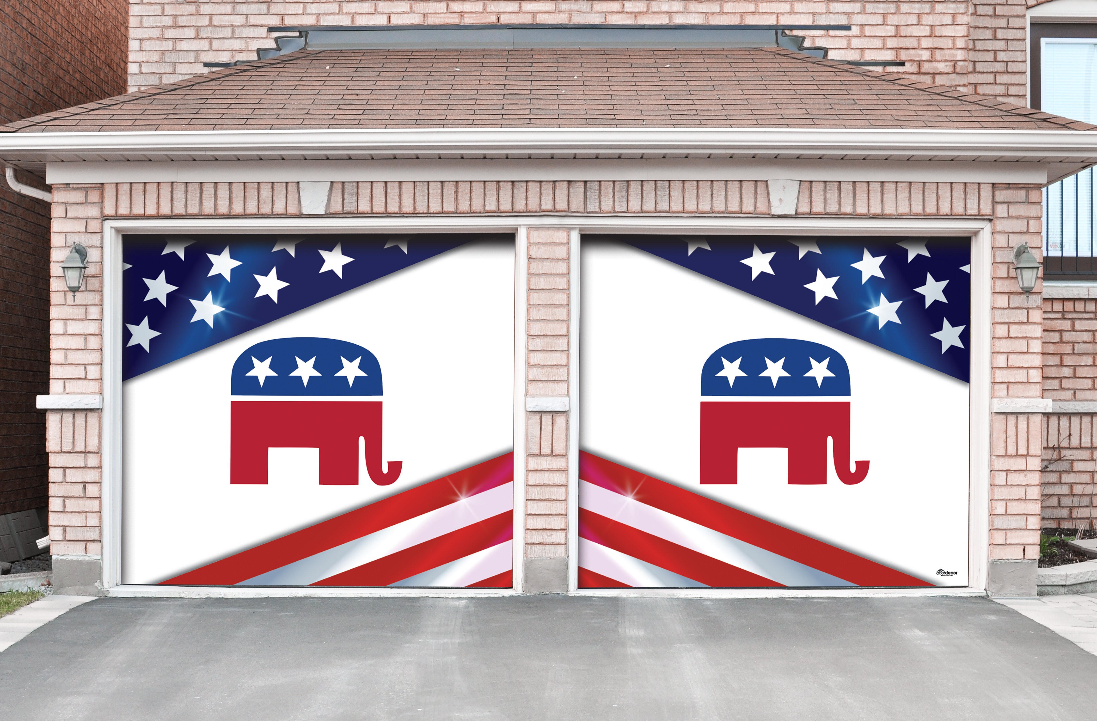The Holiday Aisle Republican Door Mural Wayfair