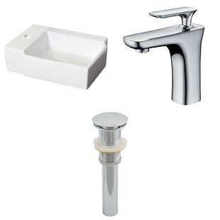 Price comparison Ceramic 16.25 Bathroom Sink with Faucet By Royal Purple Bath Kitchen