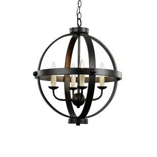 TransGlobe Lighting Old World Sphere 4-Light Globe Pendant