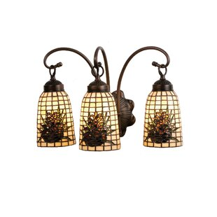 Meyda Tiffany Pine Barons 3-Light Vanity Light