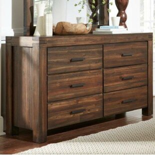 Reppert Rustic 6 Drawer Double Dresser with Mirror