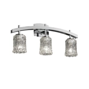 Brayden Studio Thais Archway 3 Light Cylinder w/ Rippled Rim Bath Vanity Light