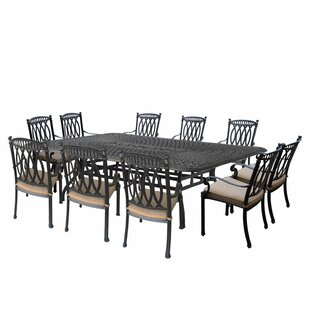 Morocco Aluminum 11 Piece Dining Set With Cushions by Oakland Living Best Design