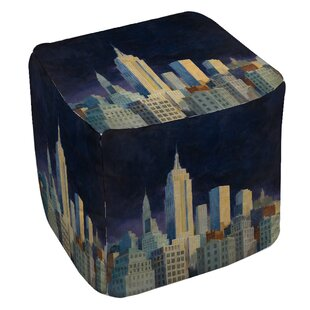 Manual Woodworkers & Weavers Midnight in Midtown Pouf