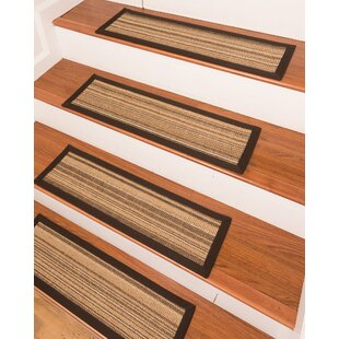 Claraville Brown Beige Stair Tread Set Of 13
