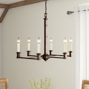Laurel Foundry Modern Farmhouse Columbine Valley 6-Light Chandelier