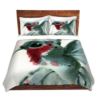 Red Barrel Studio Maximus Dawn Derman Christmas Hummingbirds II Microfiber Duvet Covers