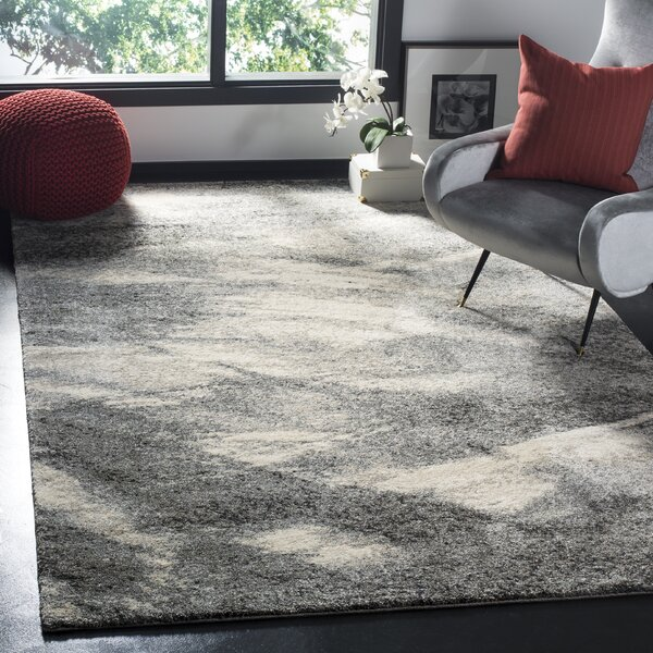 Kruse Abstract Gray Ivory Area Rug Amp Reviews Allmodern