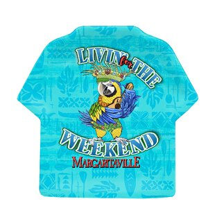 Margaritaville Figural T-Shirt Accent Melamine Appetizer Plate (Set of 4)