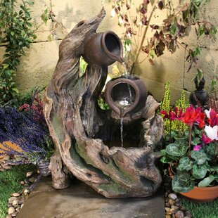 Ibrar Resin Water Feature With Light By Sol 72 Outdoor