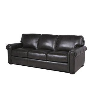 Sensational Myars Leather Sofa Wayfair Creativecarmelina Interior Chair Design Creativecarmelinacom