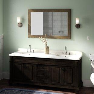 Find for Lake Park 72 Double Bathroom Vanity Set ByLaurel Foundry Modern Farmhouse