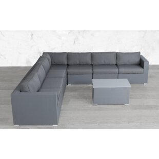 Fu Modular L Shape 8 Piece Sectional Seating Group with Cushions