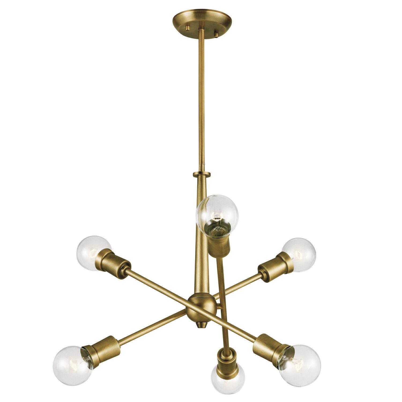 Salguero 6 Light Sputnik Modern Linear Chandelier Reviews Joss Main