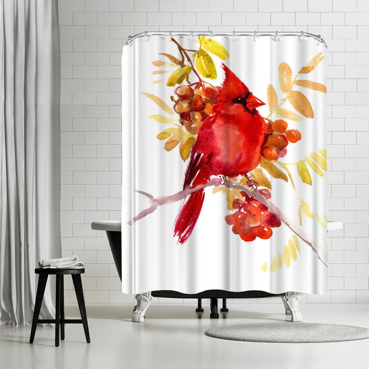 East Urban Home Suren Nersisyan Bird 4 Single Shower Curtain Wayfair