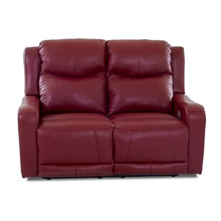 Red Barrel Studio Theodore Leather Reclining Loveseat