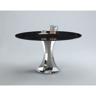 Shequita Marble Dining Table Orren Ellis