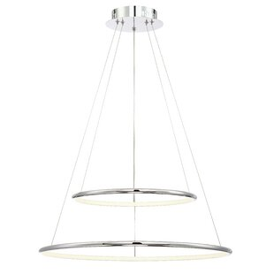 Vernie 2-Light Chandelier by Orren Ellis