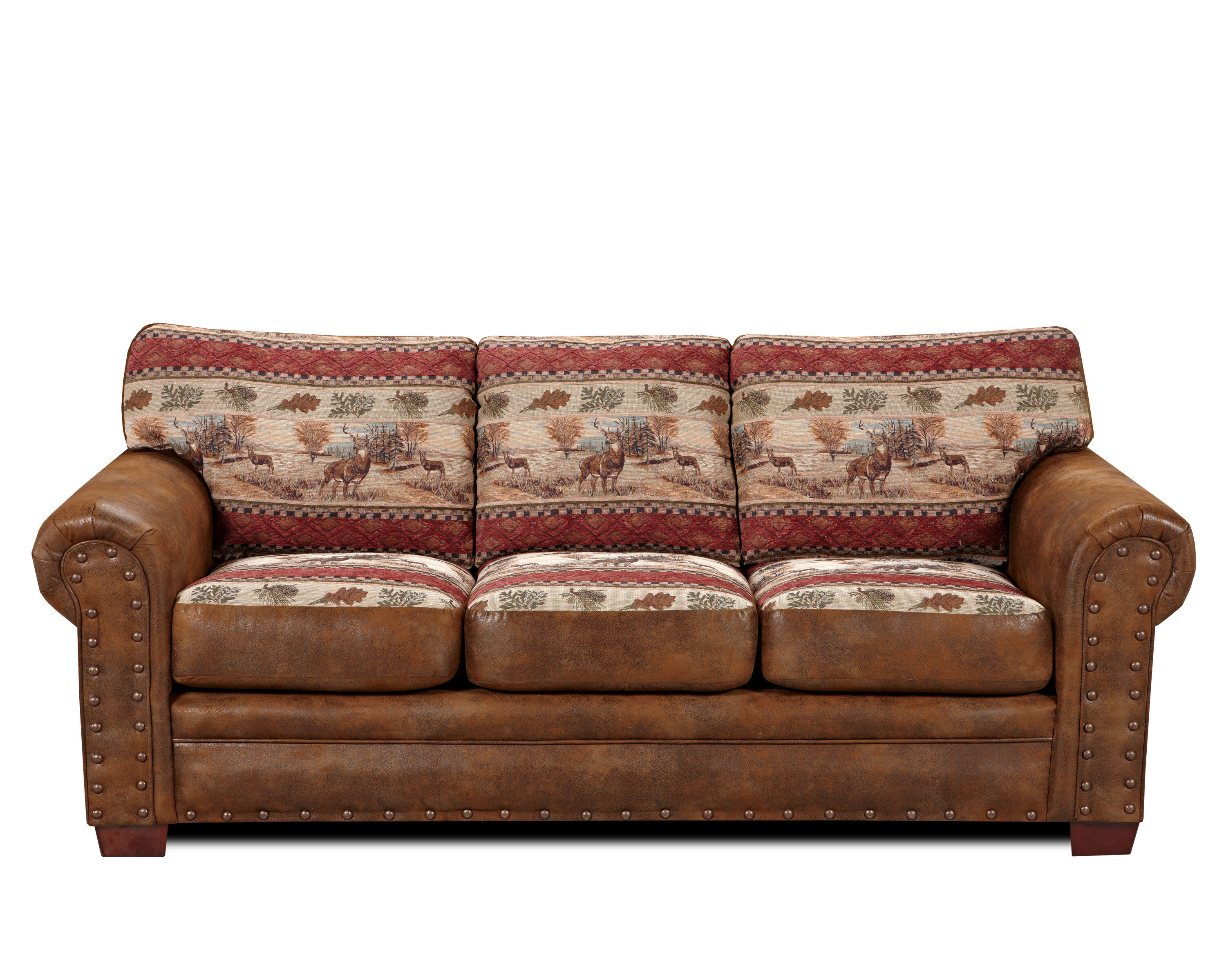 Millwood Pines Deer Valley Cotton Sofa Bed 88 Round Arms
