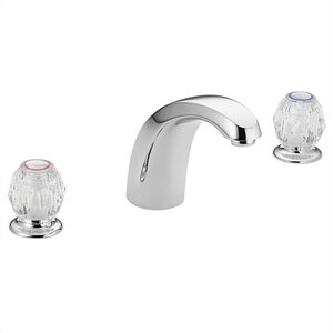 Chateau Double Handle Deck Mount Tub Only Faucet Acrylic Knob Handle