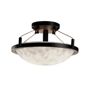 Loon Peak Winslow Clouds Round Semi Flush Mount