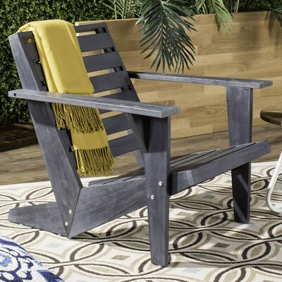 Tremendous Ivy Bronx Dekalb Solid Wood Adirondack Chair Finish Gray Gamerscity Chair Design For Home Gamerscityorg