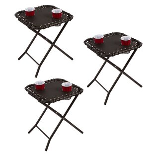 Harrel Folding Textaline Side Table (Set of 3)