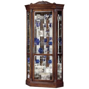 Embassy Il Lighted Corner Curio Cabinet by Howard Miller®