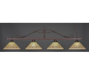 Reba Traditional 4-Light Billiard Pendant by Fleur De Lis Living