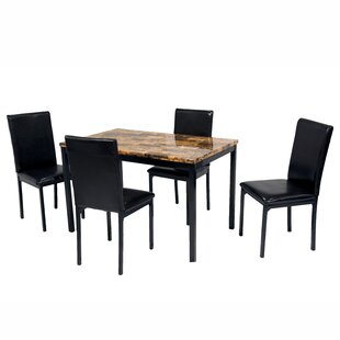 Della 5 Piece Dining Set Hazelwood Home