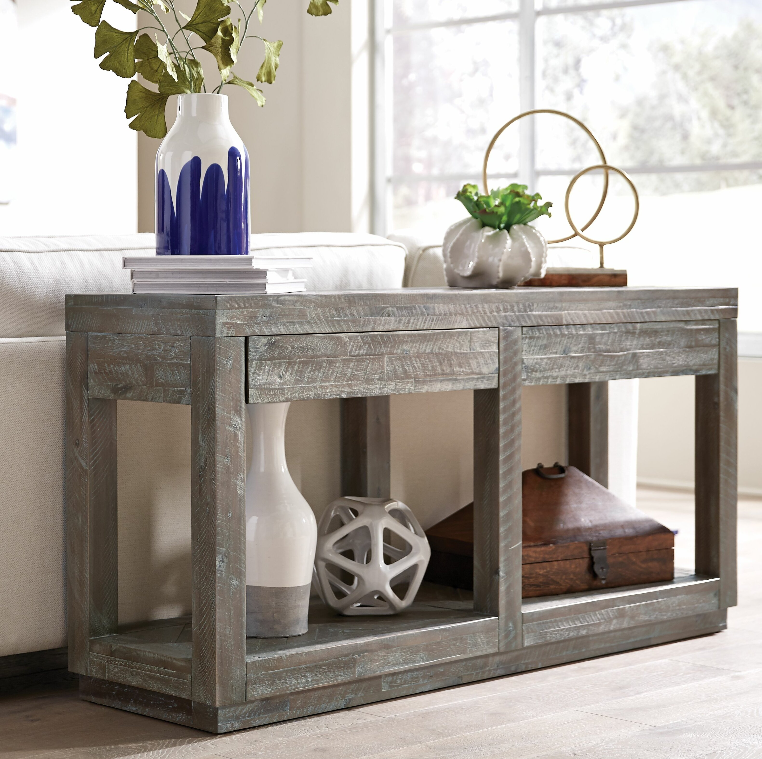 Picture of: Union Rustic Roberge 60 Solid Wood Console Table Reviews