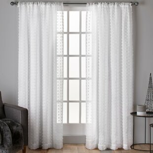 Spirit Solid Sheer Rod Pocket Curtain Panels Set Of 2