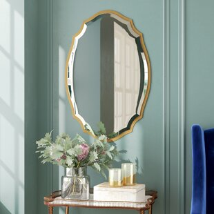 Best Reviews Blaisdell Horizontal Gold Wall Mirror By Willa Arlo Interiors